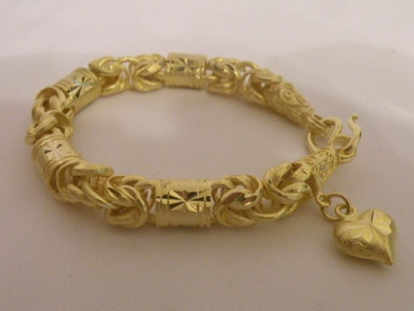 Gold Bracelet Thai Gold plated with 23 Karat 16cm 15 Baht