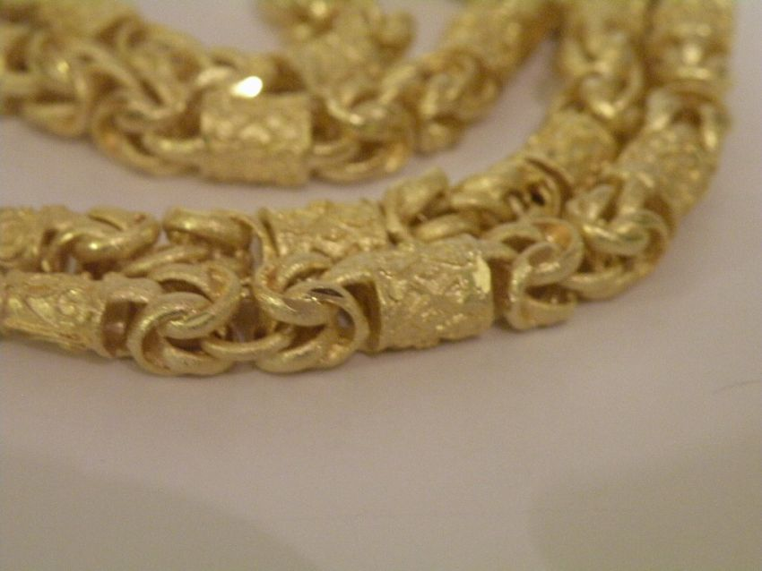 Necklace Thai Gold plated with 23 Karat 67cm 9 Baht