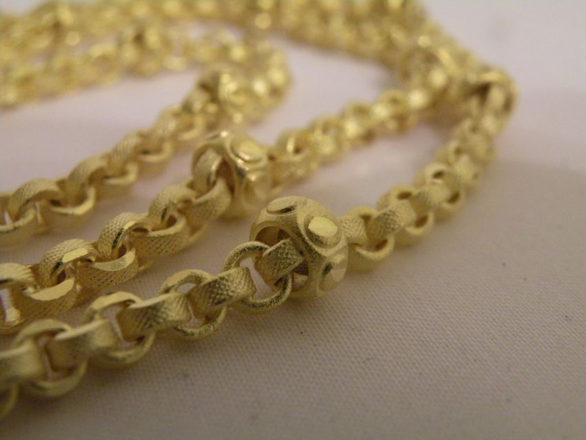 Necklace Thai Gold plated with 23 Karat 62cm 37 Baht