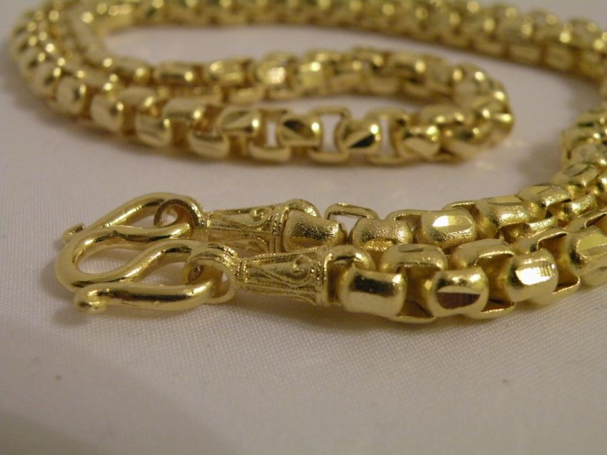 Gold Necklace Thai Gold plated with 23 Karat 66cm 64 Baht